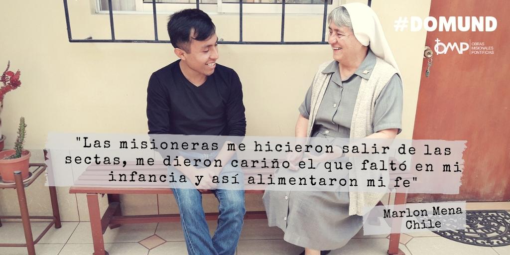 """""""Las misioneras me hicieron salir de las sectas, me dieron cariño y alimentaron mi fe"""""""